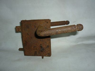 Antique Bulgarian Handforged Iron Door Lock 19 Century