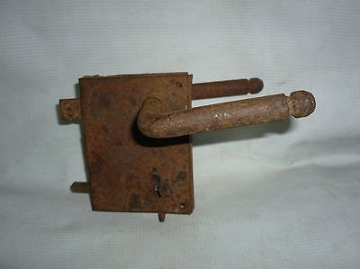 Antique Bulgarian Handforged Iron Door Lock 19 Century • CAD $345.30