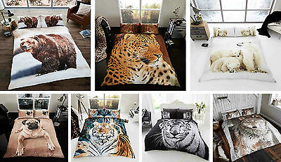 Wildlife Animal Print Duvet Cover Quilt Cover Bedding Sets Single Double King