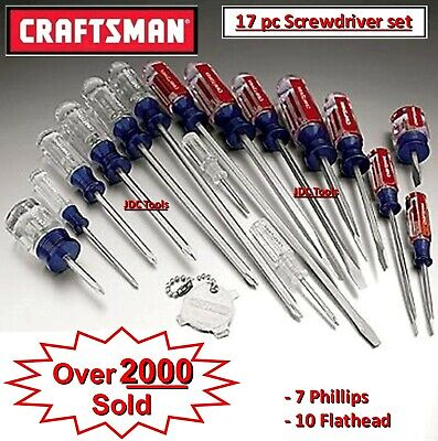 Craftsman 17 pc Screwdriver Set Phillips Slotted Butyrate Handle USA 31794 *NEW*
