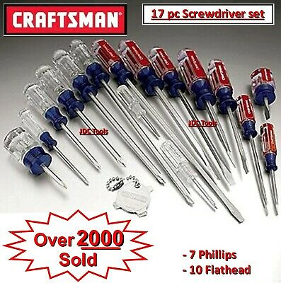 Craftsman Screwdriver Set 17 PC 31794 Phillips Flat Head Slotted NEW *SHIPS FAST