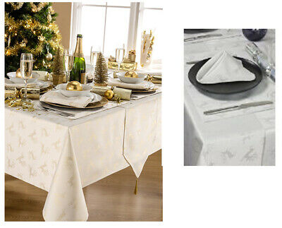 Deer Christmas Tablecloth Range - 3 Stunning Colours - Items Sold Separately