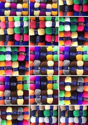 Woolcraft New Fashion Double Knitting Wool / Yarn 1 X 100g ball Various Colours