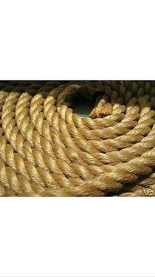 """5/8"""" X 600' 3-Strand  Manila Rope In A Pull Coil"""