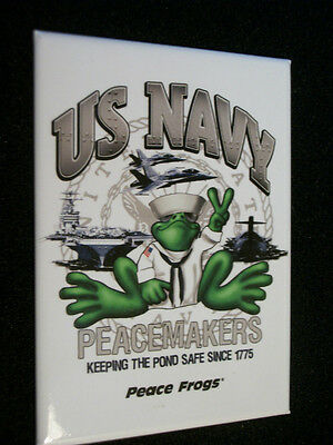 NEW PEACE FROGS US COAST GUARD MAGNET
