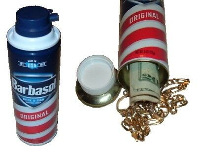 Barbasol Shaving Cream Diversion Can Safe stash cash jewelry box Piggy Bank #2