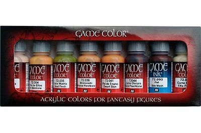 VALLEJO Game color 72.295 Couleurs Chairs – Skintones 8x17ml