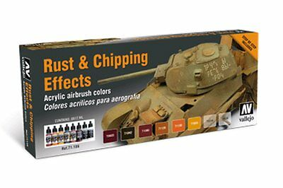 VALLEJO 71.186 Rouille et effets du temps – Rust and chipping effects 8x17ml