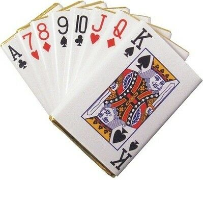 Foil Wrapped Chocolate Playing Cards Vegas Casino Themed Party Qty 5 - 100