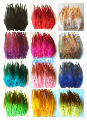 Beautiful 50pcs/100pcs rooster tail feathers 10-15cm / 4-6inch 15 Colors