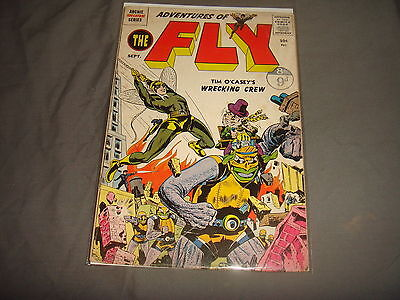 ADVENTURES OF THE FLY #2 Jack Kirby Silver Age Radio Comics 1959 FN-