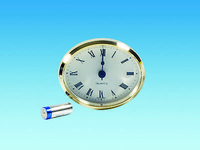 Caravan 72mm Oval Clock White Roman suitable for motorhomes boats ME508