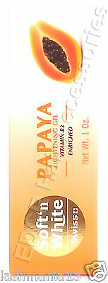 Soft'N White Swiss Papaya LIghtening Gel Vitamin B3 Enriched 30 g / 1 Oz