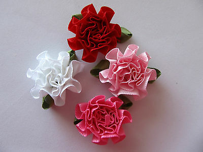 Cabbage Grosgrain Ribbon Flowers 5 Pack ***DIFFERENT COLOURS***