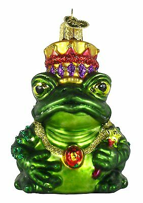 Merck Family's Old World Christmas The Frog King Glass Ornament 12010 NEW