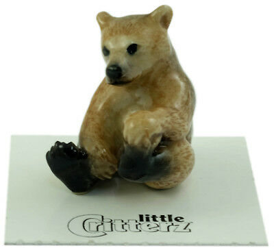 "LC840 - Little Critterz -  Brown Bear Cub named ""Bernie"" (Buy any 5 get 6th free"