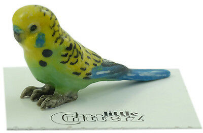 "LC846 - Little Critterz  - ""Mojito"" is a Green Parakeet (Buy any 5 get 6th free!"