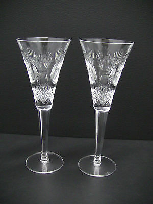 Waterford Crystal  Millennium Collection Champagne Flute Pair- Prosperity