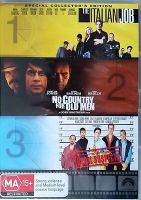 The Italian Job + No Country For Old Men + Usual Suspects - New/Sealed DVD Reg 4