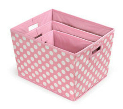 Badger Basket Nesting Trapezoid 3 Basket Set - Pink Polka Dots 947 NEW