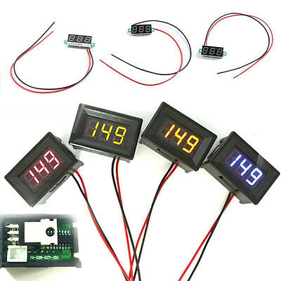 "Mini 0.28"" DC Digital Voltmeter Panel Mount LED Voltage Volt meter Red 2.50~30V"