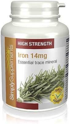 Simply Supplements Iron 14mg 120 Tablets (E443)