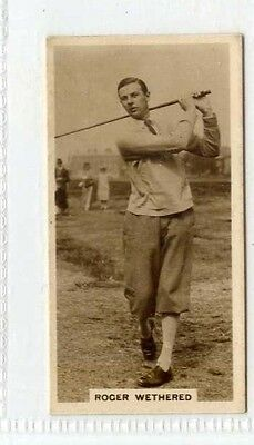 (Gw468-444) Millhoff, Famous Golfers, #4 Roger Wethered 1928 VG
