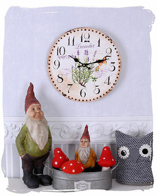 Watch In Country House Style Lavender Wall Clock Provence Shabby Antique