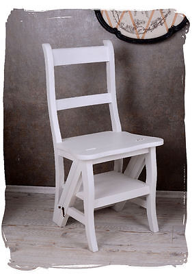 Stair Chair Head Of The Chair Book Staircase Library Director Chair Shabby White