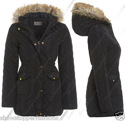NEW PARKA JACKET QUILTED COAT HOODED Girls Padded AGE 7 8 9 10 11 12 13 School