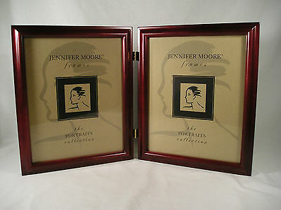 Jennifer Moore Frame, Portraits Collections Style #803 Rosewood Double 8x10, NEW