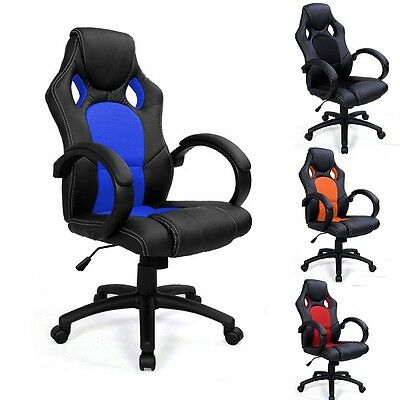 Luxury Sports Racing Gaming Office Computer Executive Leather Chair - Rrp £99.99