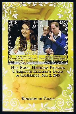 Tonga - 2015 - Royal Princess Charlotte Postage Stamp Souvenir Sheet Issue