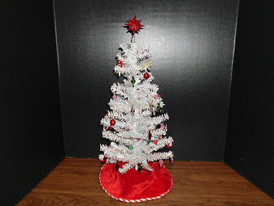 Tall Irridescent White Candy Land Christmas Tree with Lights for Tyler Diorama