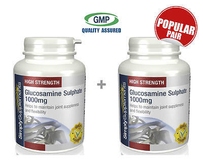 Simply Supplements Glucosamine 1000mg 120+120 Tablets|Bundle Deal (S129129)