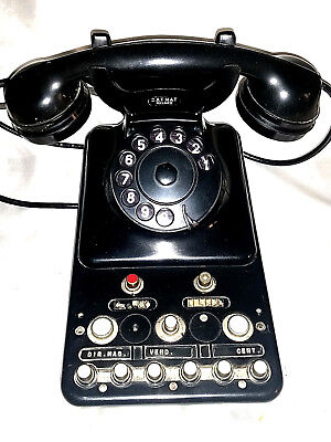 Other Telefono Arredo In Ferro Vintage Antico Epoca Old Francia Paris Telephone