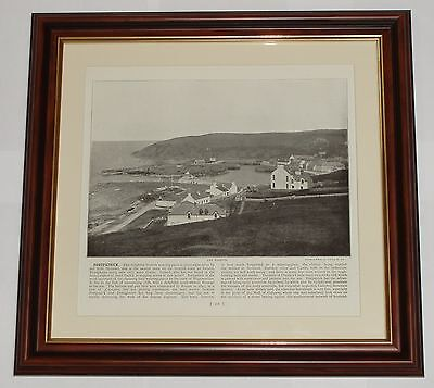 1895 Print over 120 years old Portpatrick the Harbour Scottish Watering-Place x