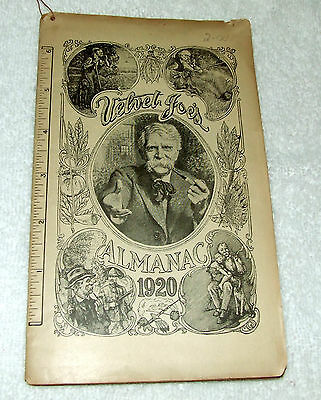 Antique 1920 Velvet Joe's Almanac - Liggett & Meyers Tobacco Co St. Louis MO USA