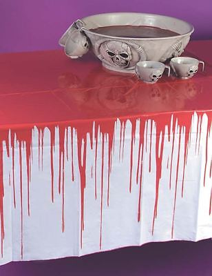 Halloween Drips Of Blood Bloody Horror Drip Large Tablecloth Cover Decoration
