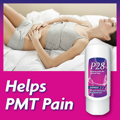 P28 Express Period & Menstrual Pain Relief Gel Stop Period Pain Symptoms Fast