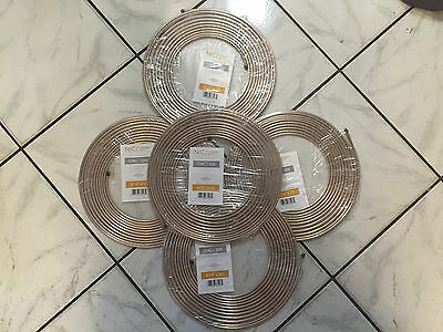 "AGS 5 Pk Nickel Copper Ferrous Alloy Hydraulic Brake Line 3/16"" x 25' CNC-325"
