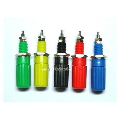 5Pcs 5 Colors Binding Post For Speaker 4mm Female Banana Plug Test Connector New