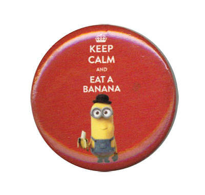 Despicable Me Minions Keep Calm Banana 1.25 Inch Button