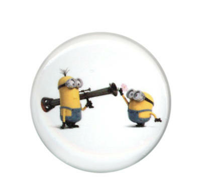 Despicable Me Minions Peace Bazooka 1.25 Inch Button