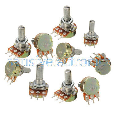 10 pcs 5K ohm Linear Taper Rotary Potentiometer Panel pot B5K 15mm