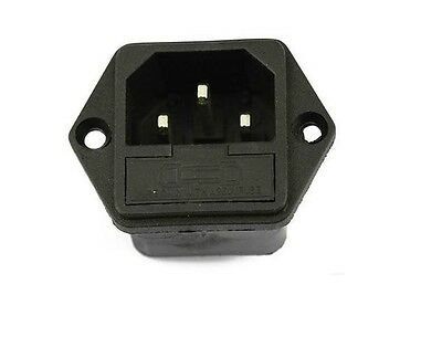 2pcs 10A/250A AC power socket /outlet/jack with fuse base 5*20MM