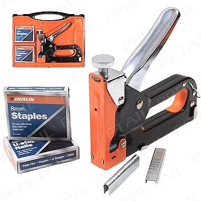 Extra Large +HEAVY DUTY+ Javelin Staple Gun With Staples In Case Steel Tacker
