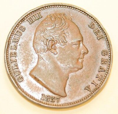William IV 1837 Halfpenny
