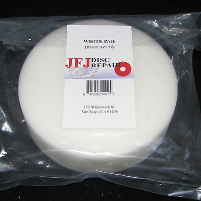 4 JFJ WHITE BUFFING PADS for SINGLE / DOUBLE ARM ARMLESS MACHINE
