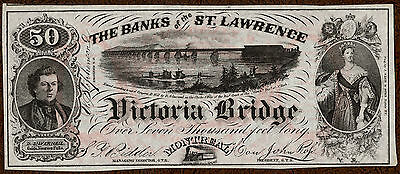 Montreal, PQ - Banks of the St. Lawrence (Grand Trunk Railway) 1860's Ad Note CU